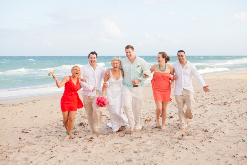 Intimate Crandon Park Beach Wedding