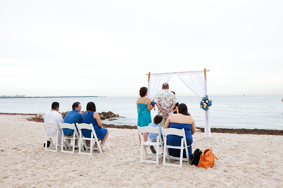 Intimate Beach Wedding Key Biscayne Small Miami Weddings