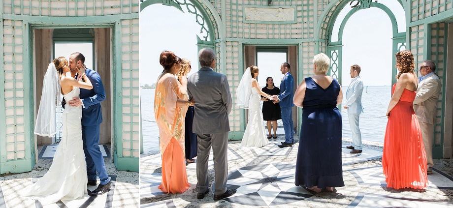 Vizcaya Museum And Gardens Daytime Garden Ceremony Intimate Wedding Small Miami Weddings